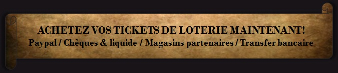 "LOTERIE MEDIEVALE - ""Winter is Coming"" Acheteztickets"