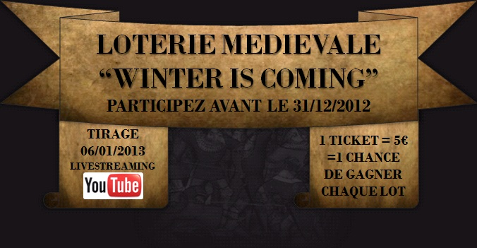 "LOTERIE MEDIEVALE - ""Winter is Coming"" Headfr"