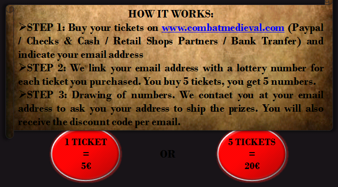 howitworksen ONLINE MEDIEVAL LOTTERY WINTER IS COMING   BUY 1 TICKET = 1 CHANCE TO WIN EACH PRIZE