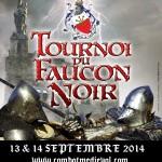 affiche tournoi médiéval faucon noir 2014