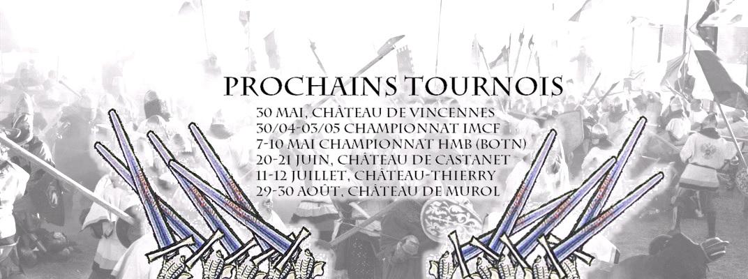 prochains tournois 2